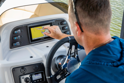 Fusion Entertainment audio packages selected by Manitou Pontoon Boats as standard-fit for select model year 2021 boats, expanding onboard audio integration with Garmin marine electronics through the free Fusion-Link app. (Photo: Business Wire)