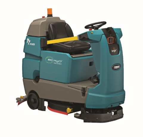Tennant Company's newest innovation is the first-to-perform robotic floor scrubber, the T7AMR. (Photo: Tennant Company)