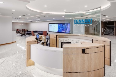 Tennant Company's new global headquarters in Eden Prairie will provide state-of-the-art amenities for employees, business partners and customers. (Photo: Tennant Company)