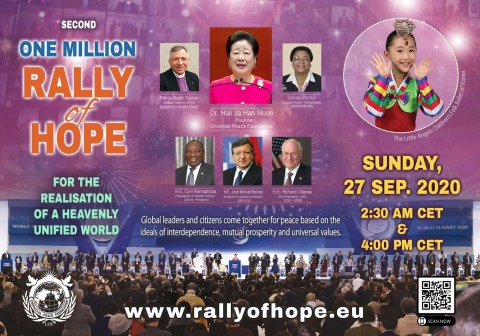 "Universal Peace Federation (UPF) holds 2nd Online ""Rally of Hope"". Global leaders come together for peace based on ideals of interdependence, mutual prosperity and universal values. (Photo: Business Wire)"