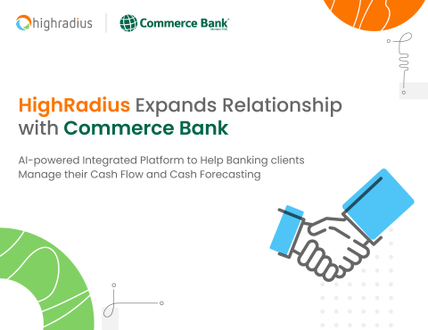 HighRadius Expands Relationship with Commerce Bank (Photo: Business Wire)