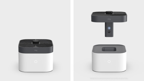 The new Ring Always Home Cam is an autonomously flying indoor camera letting users see what's happening throughout their homes in real-time. (Photo: Business Wire)