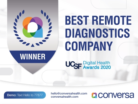 Conversa is a recognized leader in virtual care and automated remote patient management. (Graphic: Business Wire)