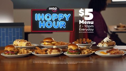 Today, IHOPPY Hour, IHOP's first-ever afternoon and evening-focused value menu, is available at select dining rooms across the country. (Photo: Business Wire)