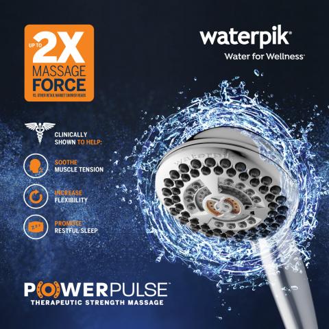 Waterpik PowerPulse Therapeutic Strength Massage (Graphic: Business Wire)