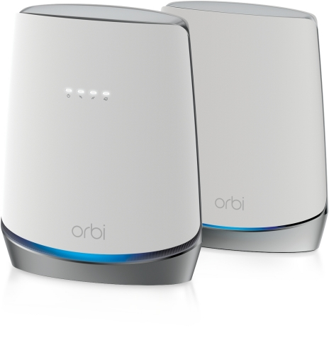 The NETGEAR Orbi™ Tri-band WiFi 6 Mesh System with Built-in DOCSIS 3.1 Cable Modem (CBK752) which includes a router and a satellite is now available in the US from NETGEAR.com for an MSRP of $599.99 USD. (Photo: NETGEAR)