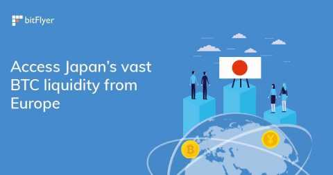 bitFlyer Europe launches cross-border trading with Japan (Graphic: Business Wire)