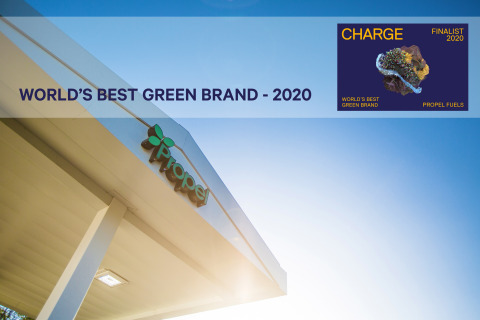 """Propel Fuels has been named a top-four global energy brand by the CHARGE Energy """"World's Best Green Brand"""" Awards. (Graphic: Business Wire)"""