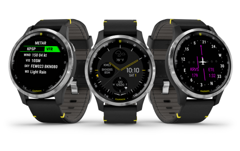Garmin International, Inc., today announced the D2 Air, its latest GPS smartwatch for the modern pilot with powerful aviation capabilities and a sleek, new touchscreen design that can be worn 24/7. (Photo: Business Wire)