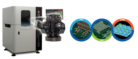 CyberOptics SQ3000 Multi-Function Inspection and Metrology System for AOI, SPI and CMM. (Photo: Business Wire).