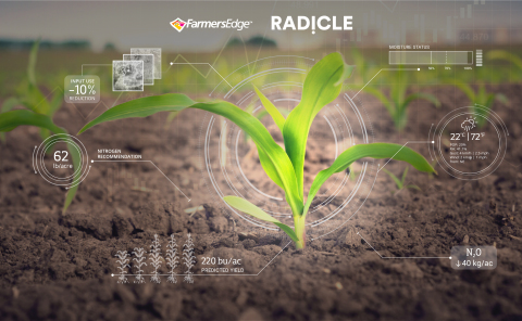 Farmers Edge and Radicle announce collaboration for high-tech carbon credit program powered by real-time field data. (Photo: Business Wire)
