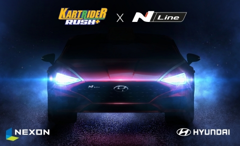 KartRider Rush+ Partners with Hyundai Motor Company to Unveil New SONATA N Line Kart (Graphic: Business Wire)