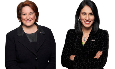 Kate Quinn (left) and Gunjan Kedia (right) have been honored by American Banker in the publication's Most Powerful Women in Banking and Finance lists for 2020. (Photo: Business Wire)