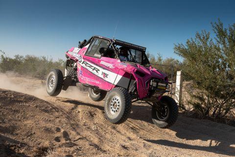 2020 Baja 500 Overall UTV Winner and RZR Factory Racer, Kristen Matlock. Photo Credit: GETSOMEphoto