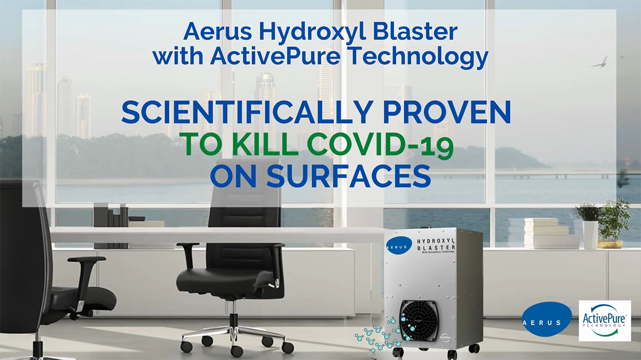 Aerus Hydroxyl Blaster with ActivePure Technology-COVID-19 Research video: https://vimeo.com/463491042