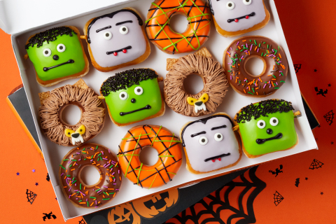 Krispy Kreme is saving Halloween from scares with new 'Reverse Trick-or-Treating' along with three NEW Scary Sweet Monster Doughnuts and a FREE doughnut for guests in costume Oct. 31 (Photo: Business Wire)