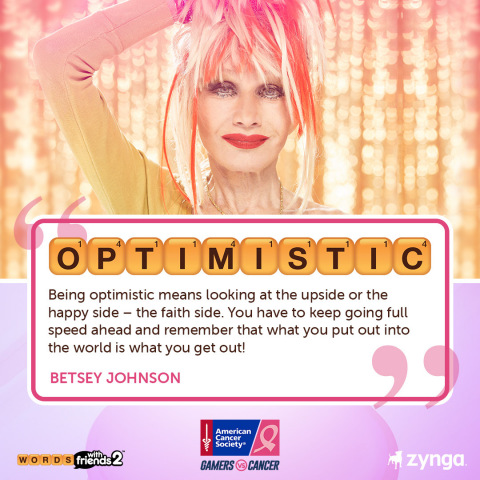 Words With Friends and the American Cancer Society Partner for Breast Cancer Awareness Month with Social Initiative, #WordsWithHope (Photo: Business Wire)