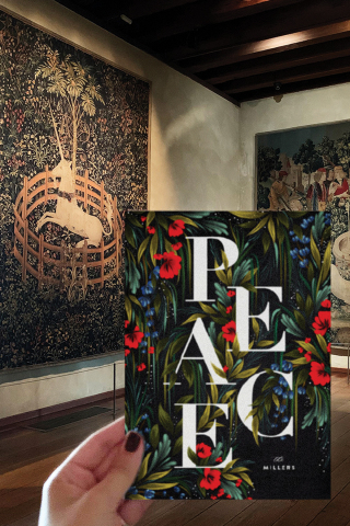 """Minted, the design marketplace that brings unique design from the best independent artists to consumers everywhere, today announced a collaboration with The Metropolitan Museum of Art to reimagine classic works of art as contemporary holiday card and greeting card designs by Minted's global community of independent artists. Shown here: """"Garden Peace"""" by Angela Marzuki inspired by The Unicorn Rests in a Garden, 1495–1505. French/South Netherlandish. Gift of John D. Rockefeller Jr., 1937. (Graphic: Business Wire)"""