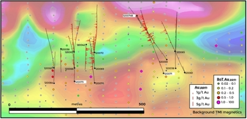 Figure 3. Location of drilling at the Ikkari target. (Graphic: Business Wire)