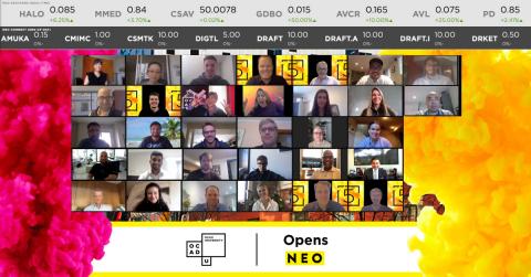 Événement « Digital Market Open & Artwork Unveiling » célébrant la collaboration entre NEO et l'Université de l'EADO (Photo : Business Wire)