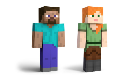 Steve and Alex, who both proudly sport more right angles than a high school geometry class, will be the seventh DLC fighters added to the game. (Photo: Business Wire)