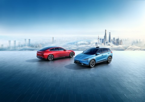 Xpeng P7 sports sedan & G3 compact SUV (Photo: Business Wire)