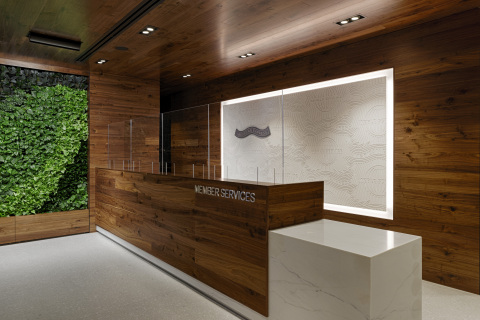 Reception area at the Centurion Lounge in John F. Kennedy Airport for check-in (Photo: Business Wire)