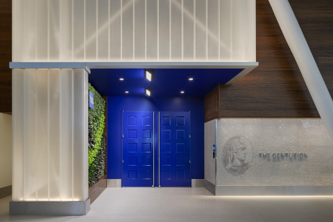 Entryway to the Centurion Lounge at John F. Kennedy Airport (Photo: Business Wire)