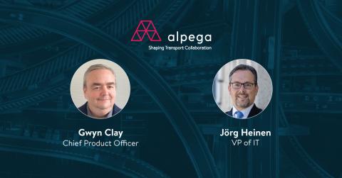 Die Alpega Gruppe begrüßt seine neuen Führungskräfte Gwyn Clay als Chief Product Officer und Jörg Heinen als VP of IT (Photo: Alepga Group)