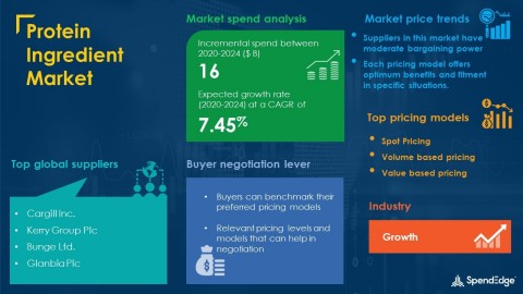 SpendEdge has announced the release of its Global Protein Ingredient Market Procurement Intelligence Report (Graphic: Business Wire)