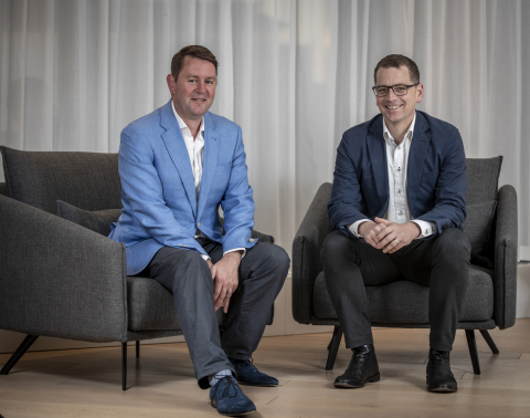 Left to Right: Nick Mulcahy, CEO Zag, and Ben Morgan, Managing Director Accenture New Zealand. (Photo: Business Wire)