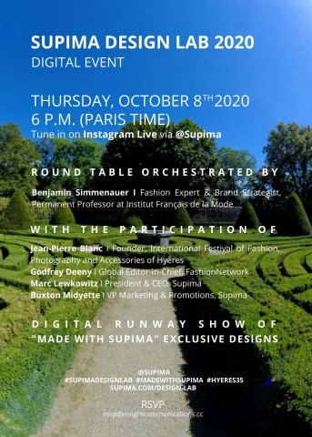 Supima Design Lab 2020 Digital Event Invitation (Photo: Business Wire)