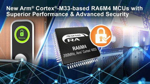 New Arm Cortex-M33-based RA6M4 MCUs with superior performance & advanced security (Graphic: Business Wire)