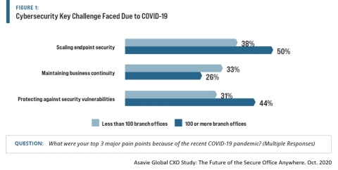 Cybersecurity key challenges faced during COVID-19 (Graphic: Business Wire)