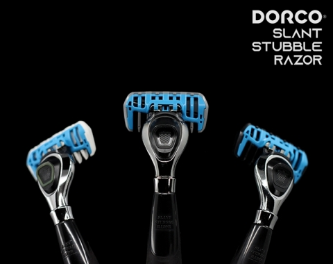 Global razor manufacturing company DORCO is running a crowdfunding campaign for the Slant Stubble Razor on INDIEGOGO to November 15. The Slant Stubble Razor blades are slanted at a 10-degree angle allowing a smooth and clean shave. The slanted blades of the Slant Stubble Razor greatly enhance shaving power. It allows convenient shaving with water, without requiring shaving cream, and is designed with a grip optimal for an upper stroke. It comes with 1mm, 2mm, and 3mm cartridges for effective trimming of facial hair depending on the user's preferred style. (Photo: Business Wire)