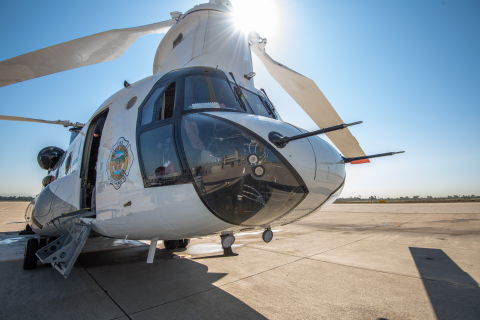 Southern California Edison is contributing about $2.2 million toward the OCFA's lease of the CH-47 Chinook helitanker during what's expected to be an active fire season through year-end 2020. Photo credit: Elisa Ferrari