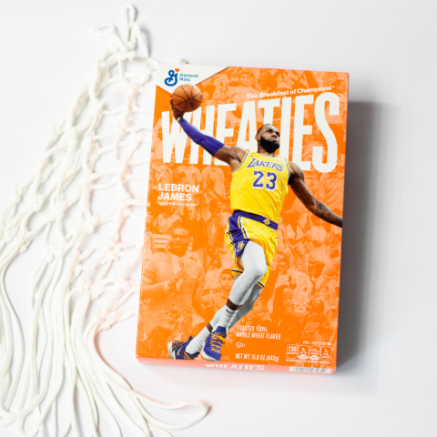 Wheaties announced that LeBron James, one of the greatest basketball players of all time, will be the next athlete to adorn the cover of the iconic orange box. (Photo: Business Wire)