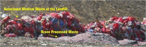 Treated Medical Waste and the Landfill (Photo: Business Wire)