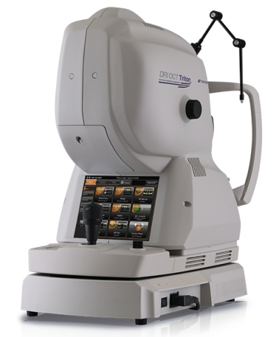 Triton SS-OCT allows visualization into the deepest layers of the eye and optimizes efficiency with instant dual capture of widefield OCT and fundus photography. (Photo: Business Wire)