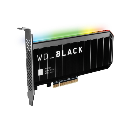 WD_BLACK AN1500 NVMe SSD Add-in-Card. Western Digital's latest additions to the WD_BLACK portfolio offer innovative gaming solutions to help consumers meet the demands of next-gen games. (Photo: Business Wire)