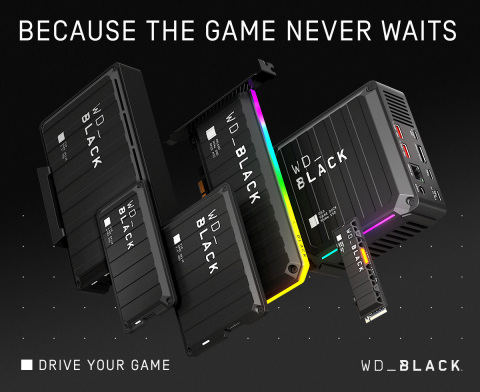 Western Digital's latest additions to the WD_BLACK™ portfolio offer innovative gaming solutions to help consumers meet the demands of next-gen games. (Graphic: Business Wire)