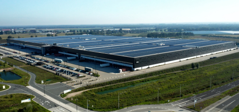 Solar Panel on PVH Europe Warehouse and Logistic Center in Venlo, the Netherlands (Photo: Business Wire)