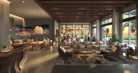 A rendering of the oceanside lobby at the new Mission Pacific Hotel. (Photo: Business Wire)