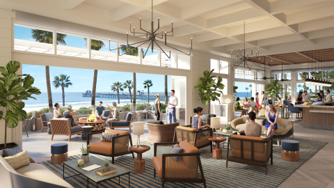 A rendering of the new oceanside lounge bar at The Seabird Resort (Photo: Business Wire)