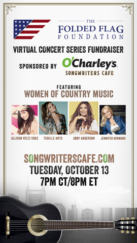 Join us virtually on Oct. 13 to celebrate Women of Country Music and raise money for the families of our fallen heroes! (Graphic: Business Wire)