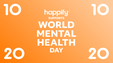 """Happify Health has released a """"2020 Survival Kit"""" in support of World Mental Health Day featuring free content designed to help people with the specific challenges they may be going through right now, with tracks to help manage increased stress and worry around the upcoming U.S. Presidential election, racial discrimination and injustice, and the COVID-19 pandemic. (Graphic: Business Wire)"""