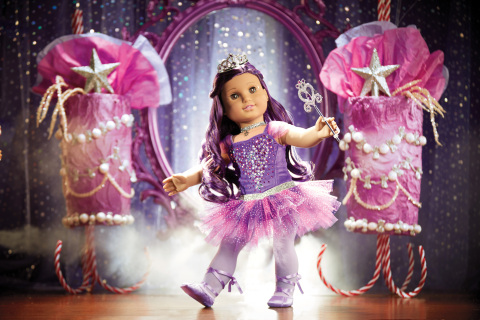 American Girl's limited edition Sugar Plum Fairy collector doll with 240 Swarovski crystals. (Photo: Business Wire)