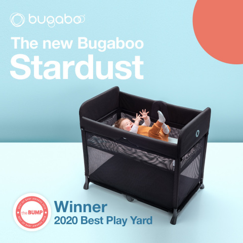"""The Bump selects the Bugaboo Stardust as Best Play Yard in its 2020 Best of Baby Awards. """"Unlike other play yards, you can pop up the Stardust in one second flat—no work-out level assembly here. A plush mattress folds into the play yard, which is a truly standout design element."""" (Photo: Business Wire)"""