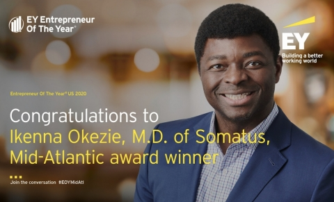 Ikenna Okezie, MD - EY Entrepreneur of the Year Mid-Atlantic Winner (Graphic: Business Wire)
