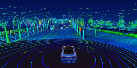 Velodyne Lidar's Alpha Prime™ sensor provides real-time 3D vision that allows autonomous vehicles to see their surroundings. (Photo: Velodyne Lidar, Inc.)